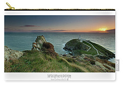 Sunset At South Stack Lighthouse Carry-all Pouch by Beverly Cash