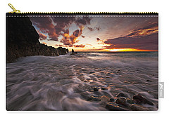 Sunset Tides - Porth Swtan Carry-all Pouch by Beverly Cash