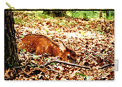 Carry-all Pouch featuring the photograph  Sweet Baby Elk by Peggy Franz