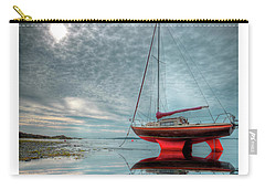 Waiting For The Tide Carry-all Pouch by Beverly Cash