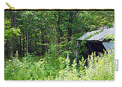 A Broken Down Farm Building Carry-all Pouch by Robert Margetts