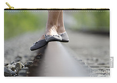 Balance On Railroad Tracks Carry-all Pouch