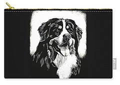 Bernese Mountain Dog Carry-all Pouch by Rachel Hames