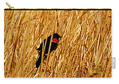 Blackbird In The Reeds Carry-all Pouch