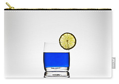 Blue Cocktail With Lemon Carry-all Pouch by Joana Kruse