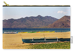 Boats On South China Sea Beach Carry-all Pouch by Amelia Racca
