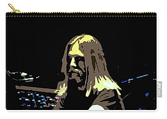 Brent Mydland Of The Grateful Dead Carry-all Pouch by Susan Carella
