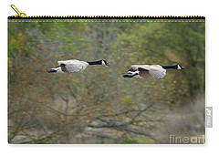 Carry-all Pouch featuring the photograph Canada Geese by Doug Herr