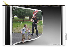 Carry-all Pouch featuring the photograph Chasing Bubbles by Brian Wallace