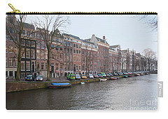City Scenes From Amsterdam Carry-all Pouch by Carol Ailles