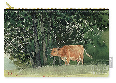 Cow In Pasture Carry-all Pouch by Winslow Homer