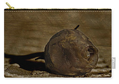 Carry-all Pouch featuring the photograph Dead Rosebud by Steve Purnell