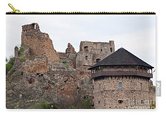 Carry-all Pouch featuring the photograph Filakovo Hrad - Castle by Les Palenik