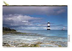 Fishing By The Lighthouse Carry-all Pouch by Beverly Cash