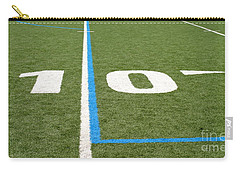 Carry-all Pouch featuring the photograph Football Field Ten by Henrik Lehnerer