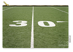 Carry-all Pouch featuring the photograph Football Field Thirty by Henrik Lehnerer