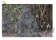 Carry-all Pouch featuring the photograph Garden Goddess by Donna  Smith