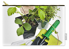 Gardening Tools And Plants Carry-all Pouch by Elena Elisseeva