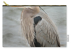 Carry-all Pouch featuring the photograph Great Blue Heron by Doug Herr