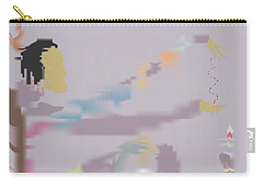 Carry-all Pouch featuring the painting Kundalini Reveals Dna by Kevin McLaughlin