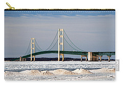 Mackinac Bridge In Winter Carry-all Pouch