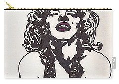 Carry-all Pouch featuring the drawing Marilyn Monroe by Jeremiah Colley