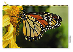 Monarch And The Sunflower Carry-all Pouch
