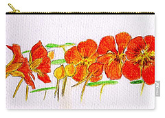Nasturtiums Carry-all Pouch by Barbara Moignard