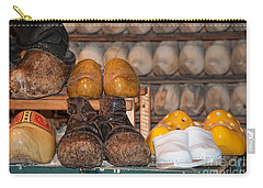 Carry-all Pouch featuring the digital art Old Wooden Shoes by Carol Ailles
