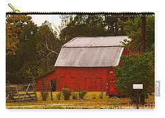 Carry-all Pouch featuring the photograph Ozark Red Barn by Lydia Holly