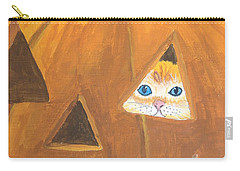 Carry-all Pouch featuring the painting Peekaboo by Norm Starks