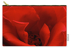Photograph Of A Red Rose Carry-all Pouch