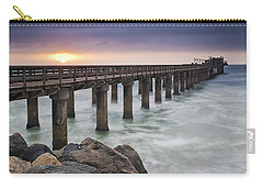 Pier At Sunset Carry-all Pouch by Fran Gallogly