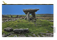 Carry-all Pouch featuring the photograph Poulnabrone Dolmen by David Gleeson