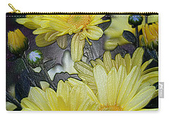 Pretty In Yellow Carry-all Pouch by Karen Harrison