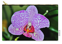 Carry-all Pouch featuring the photograph Purple Orchid by Sherman Perry