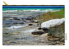 Quiet Waves Along The Shore Carry-all Pouch