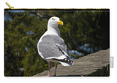 Carry-all Pouch featuring the photograph Seagull by David Gleeson