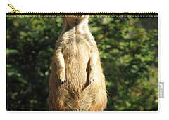 Carry-all Pouch featuring the photograph Sentinel Meerkat by Carla Parris