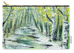 Carry-all Pouch featuring the painting Spring by Shana Rowe Jackson