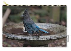 Stellar Jay In The Birdbath Carry-all Pouch by Carol Ailles