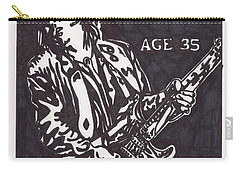 Carry-all Pouch featuring the drawing Stevie Ray Vaughn by Jeremiah Colley
