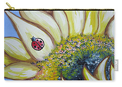 Sunflower And Ladybug Carry-all Pouch