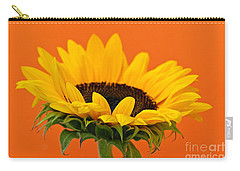Sunflower Closeup Carry-all Pouch by Elena Elisseeva