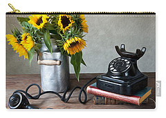 Sunflowers And Phone Carry-all Pouch
