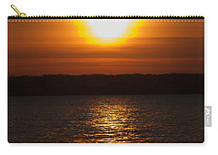 Carry-all Pouch featuring the photograph Sunrise On Seneca Lake by William Norton