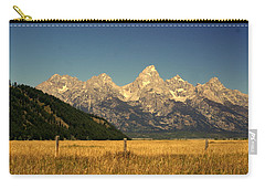Carry-all Pouch featuring the photograph Tetons 3 by Marty Koch