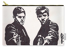 Carry-all Pouch featuring the drawing The Boondock Saints by Jeremiah Colley
