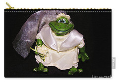 Carry-all Pouch featuring the photograph The Green Bride by Sherman Perry