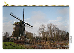 Windmill In Amsterdam Carry-all Pouch by Carol Ailles